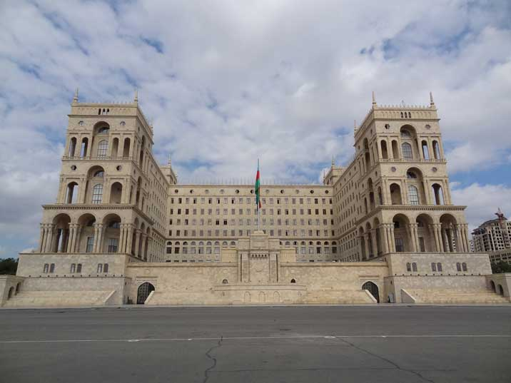 The Government House of Baku is a prime example of successful Soviet architecture that incorporates local culture