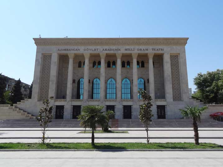 The Azerbaijan State Academic Drama Theatre where many famous Soviet actors have performed in the past