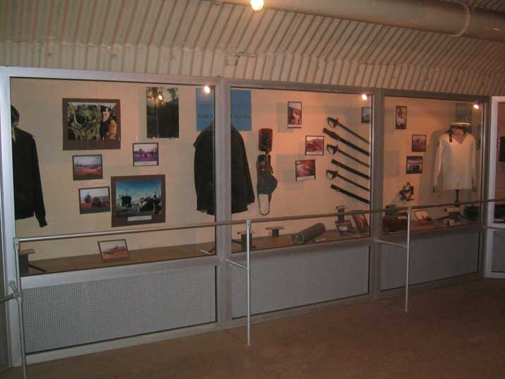 Soviet navy and army exhibits in the Submarine base museum