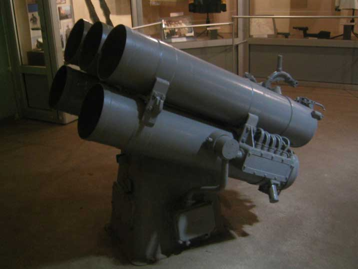 Anti Submarine rocket launch system used on Soviet Navy vessels