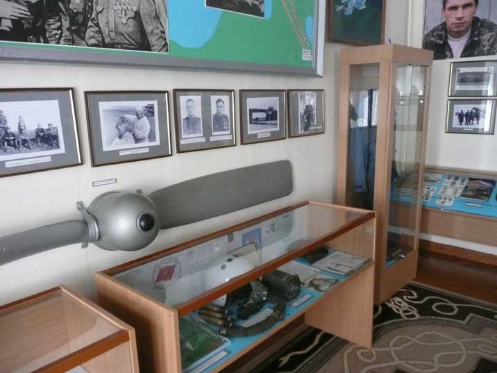 Section of the Baltic Fleet Museum devoted to military aviation