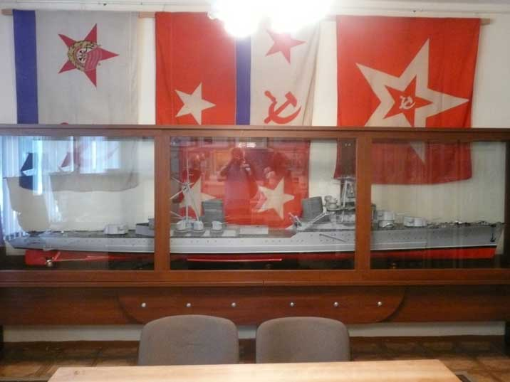 Scale model of a Soviet warship serving in the Baltic Fleet