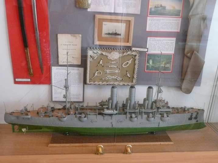 Model of an Armoured Cruiser of the Imperial Russian Navy