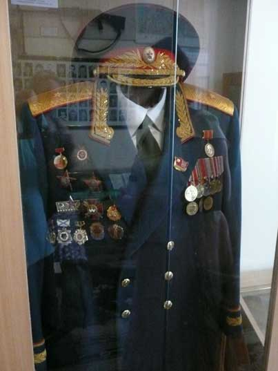 Soviet navy uniform for an Admiral with many decorations