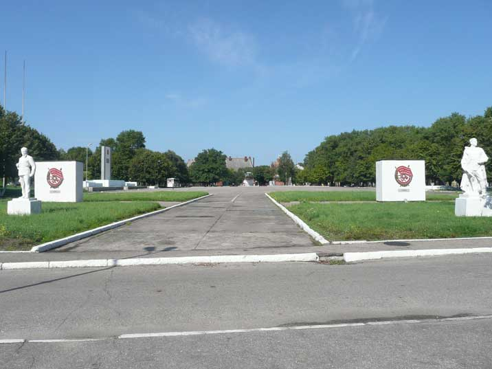 Military parade ground and Red Army monument in Baltiysk