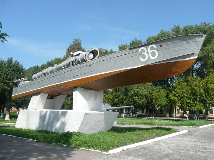 Komsomolets Torpedo Boat as part of the monument to Baltic glory