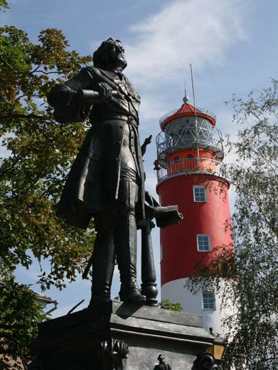 Statue of Peter the Great, who visited Pillau three times