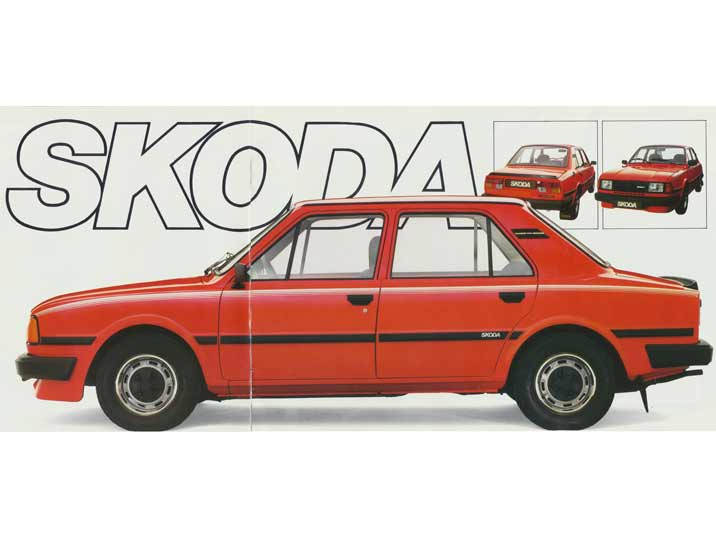 The clean lines and robust design of the Skoda 105 and 120 series are well displayed in this folder