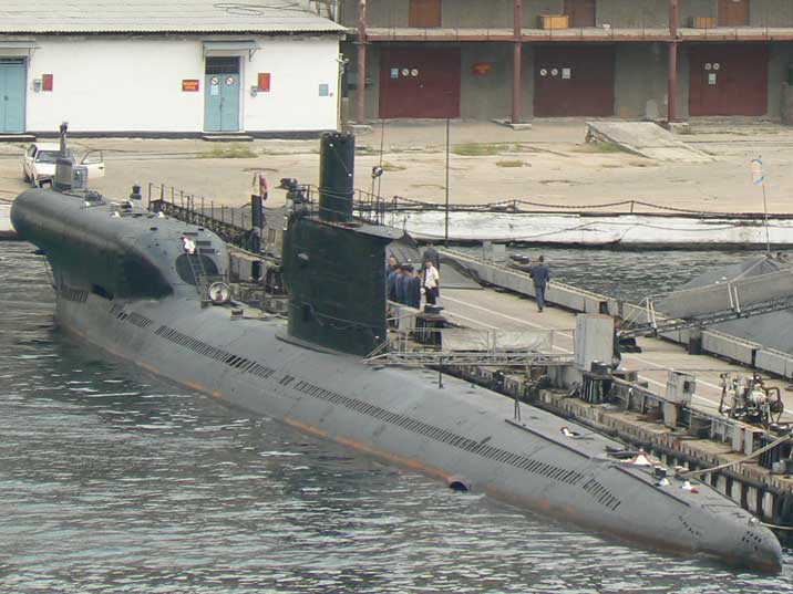 Converted Russian Romeo class Missile testing submarine PES-50
