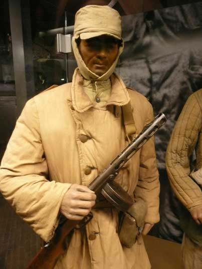 Hoengseong-gun South Korea  City new picture : North Korean soldier in winter cammo with PPSh 41 submachine gun