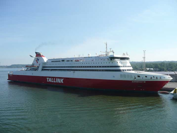 Tallink ferry Superfast VII docked in the Helsinki harbour