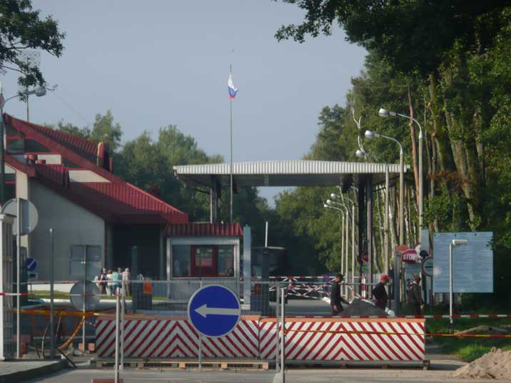 Border between Russian and Lithuania on the Curonian Split