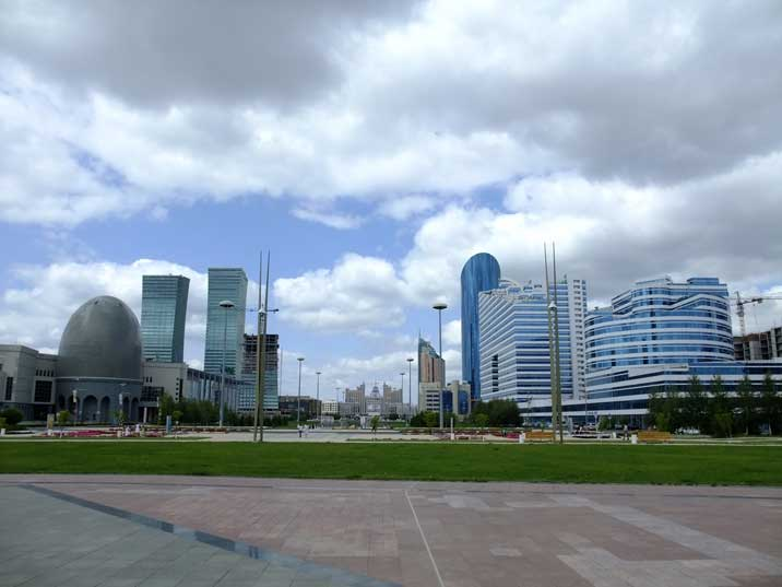 Office and government buildings on Astana's new Main Square