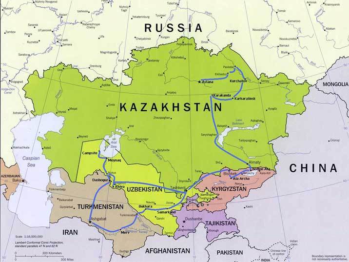 The Steppes Of Central Asia - Where is asia