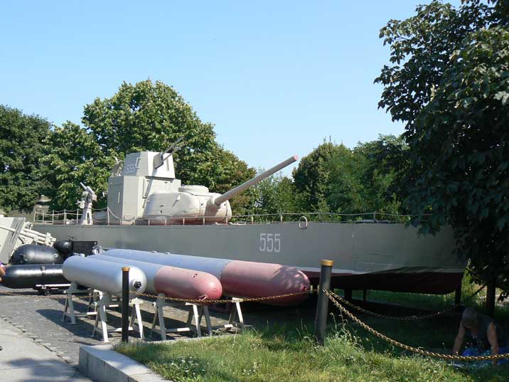 Volga Patrol Boat with T-34 turret in the Kiev war museum