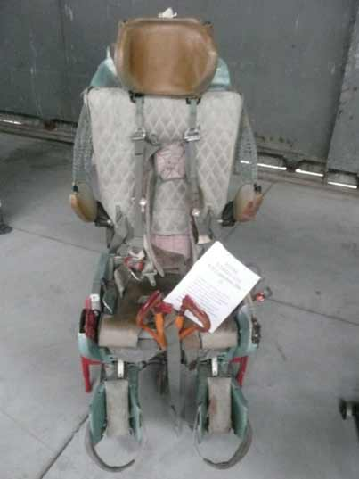 Soviet KM-1 ejection seat used in the Mikoyan Gurevich MiG-21