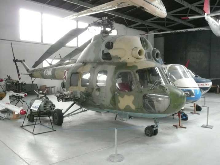 Mil Mi-2URPP gunship helicopter armed with 23mm NS-23 gun