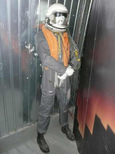 Soviet pilot suit with helmet an life jacket from the 1980s