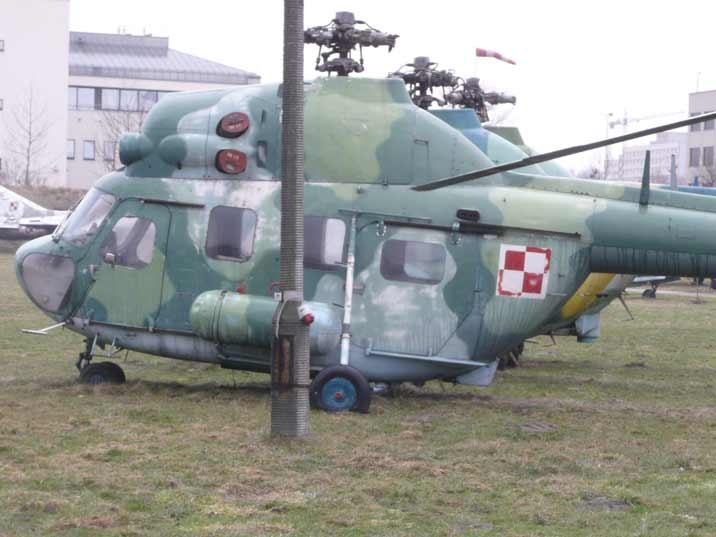 WSK Mi-2Ch chemical reconnaissance smokescreen layer helicopter
