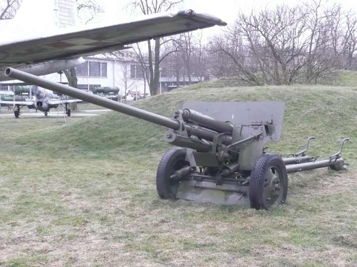 Soviet ZiS-2 57 mm anti-tank gun M1943 used during World War II