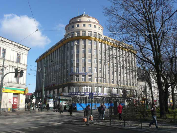 The Feniks Building from 1938 nowadays known as the LOT building is a well know landmark in Krakow