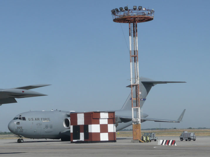 Boeing C-17A Globemaster III 03-3125 of the US Air Force Air Mobility Command on Manas Air Force Base