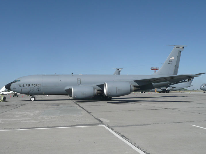 Boeing KC-135T Stratotanker 59-1471 of the US Air Force Air Refueling Wing on Manas Air Force Base