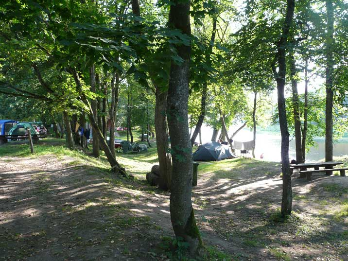 Siguldas Pludmale camping on the Gauja river bank near Sigulda