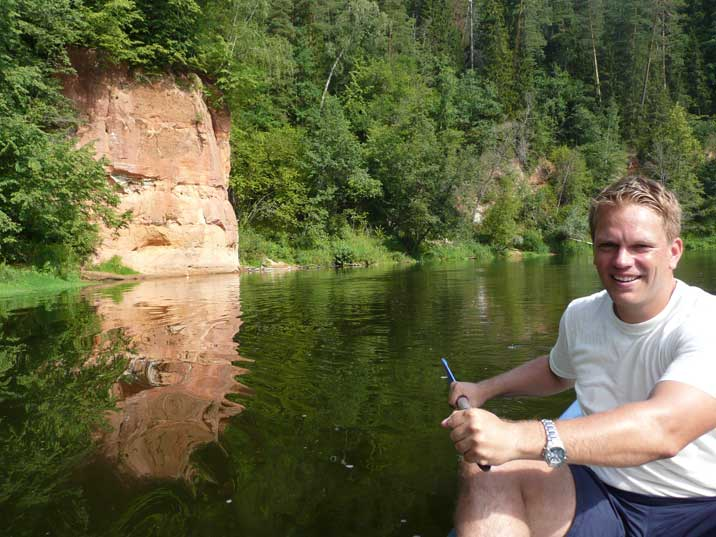 Enjoying the beautiful nature of Gauja National Park by canoe