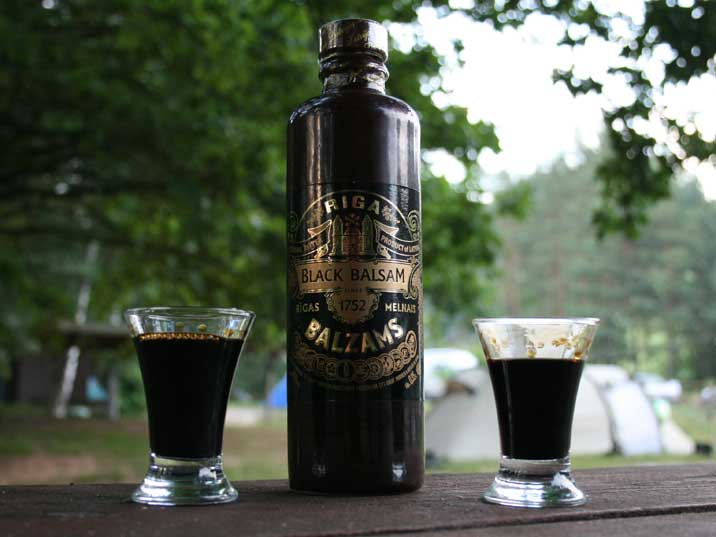 In Latvia we drunk famous local herbal liquor, Black Balsam