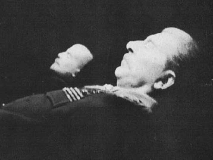 Stalin's body was placed besides Lenin from 1953 until 1961