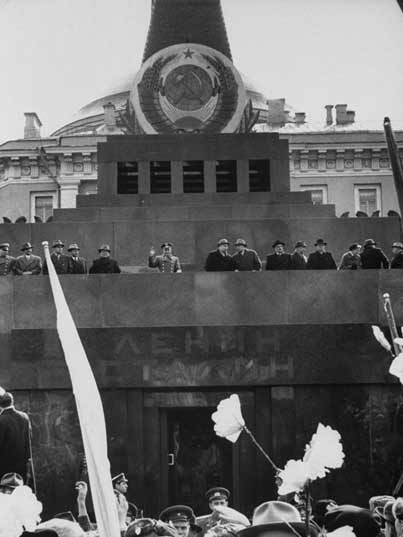 Stalin was removed from the Lenin Mausoleum by Khrushchev 1961