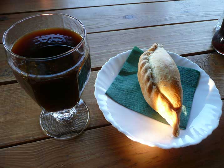 Lithuanian pasty in Restaurant Senoji Kibinine Svetaine