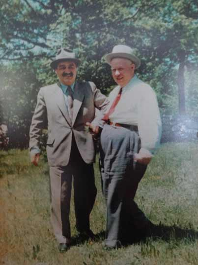 A historic photo of Nikita Khrushchev and Anastas Mikoyan, who played a major role during the Cuban Missiel Crisis
