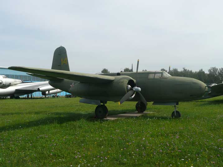 American lend-lease Douglas A-20G Boston by the Soviet Air Force