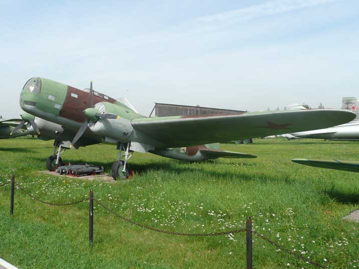 Ilyushin Db-3 bomber used by the Soviet Union during World War II