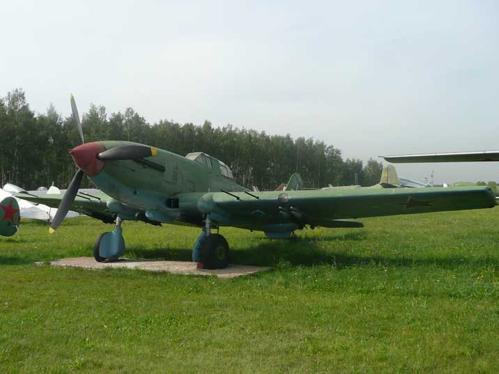 Ilyushin Il-10 ground attack aircraft from the end of World War II