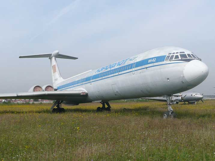 The Ilyushin Il-62 long range jet airlines first flew in the 1960s