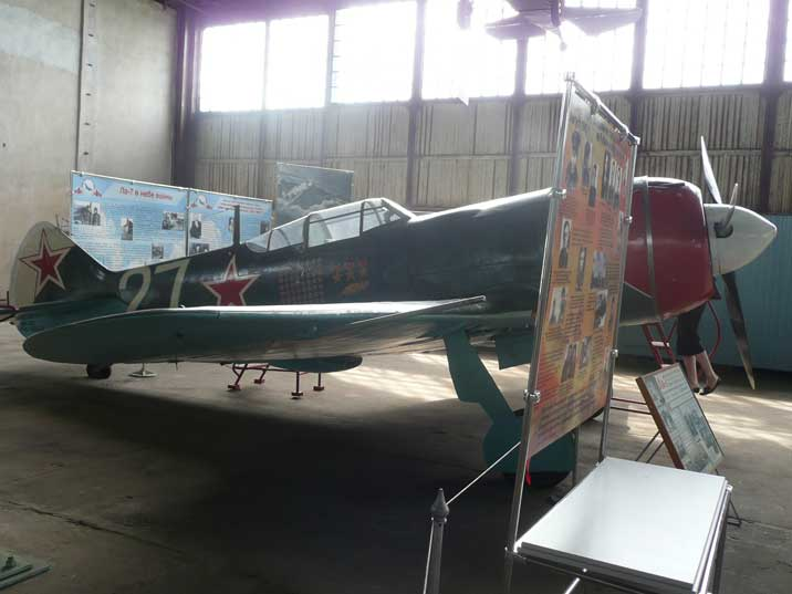 This Lavochkin La-7 has received three Soviet Union Hero medals