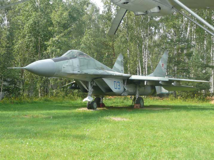The MiG-29K with a tail hook is the naval version of the MiG-29