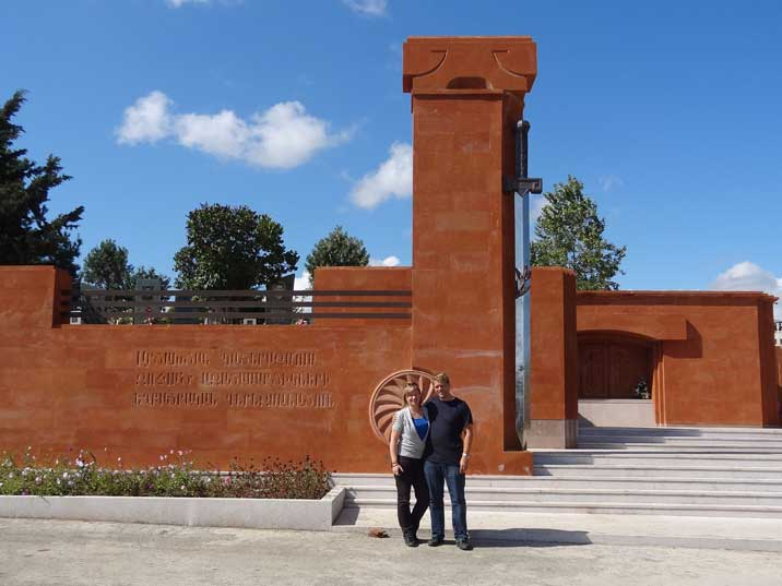 Stepanakert Memorial complex commemorating the soldiers and civilians who died in the Independence war
