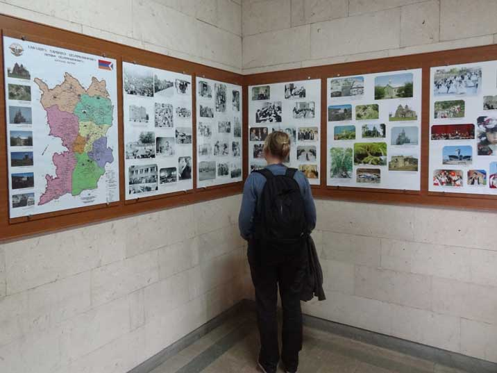 Information about the Republic of Nagorno-Karabakh inside the Ministry of Foreign affairs where tourists get their Visa