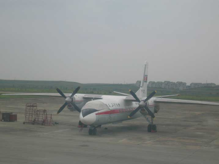 Air Koreo Antonov An-26 passenger aircraft at Pyongyang Airport