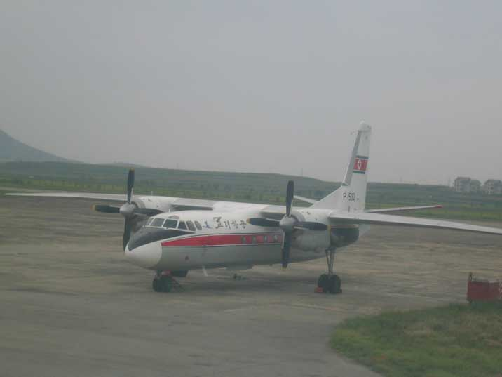 Air Koreo Ilyushin An-26 at Pyongyang Susan International Airport