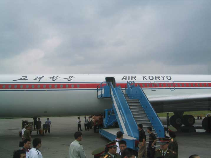 Air Koreo Ilyushin IL-62 on the apron of Pyongyang airport