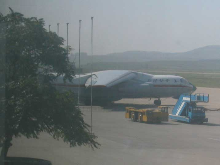 Air Koreo Ilyushin IL-76 Cargo aircraft at Pyongyang airport