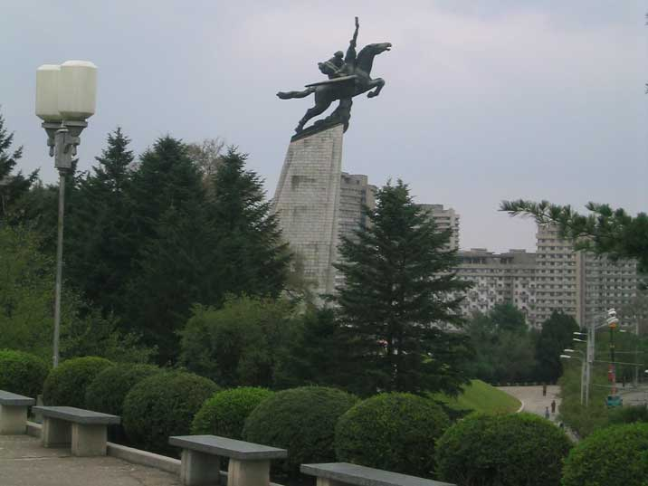 The Chollima Statue from 1961 in near in Mansu Dong Pyongyang