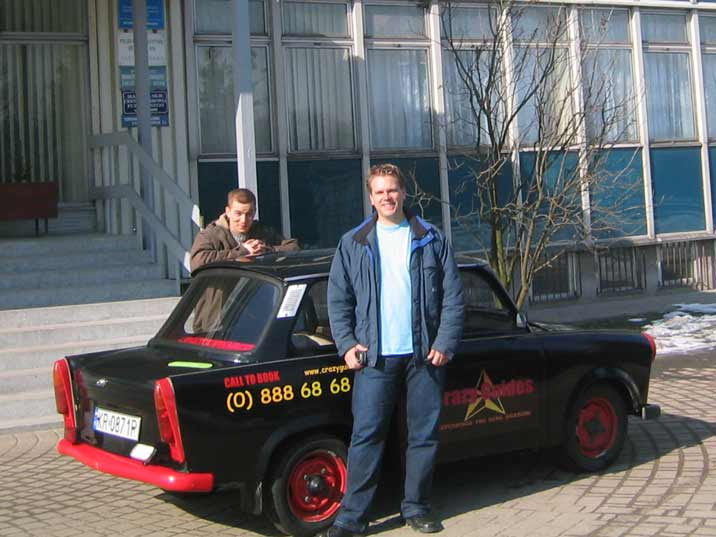 Crazy Guides pick tourists up with a Trabant from your Krakow Hotel when you book a Nowa Huta tour with them