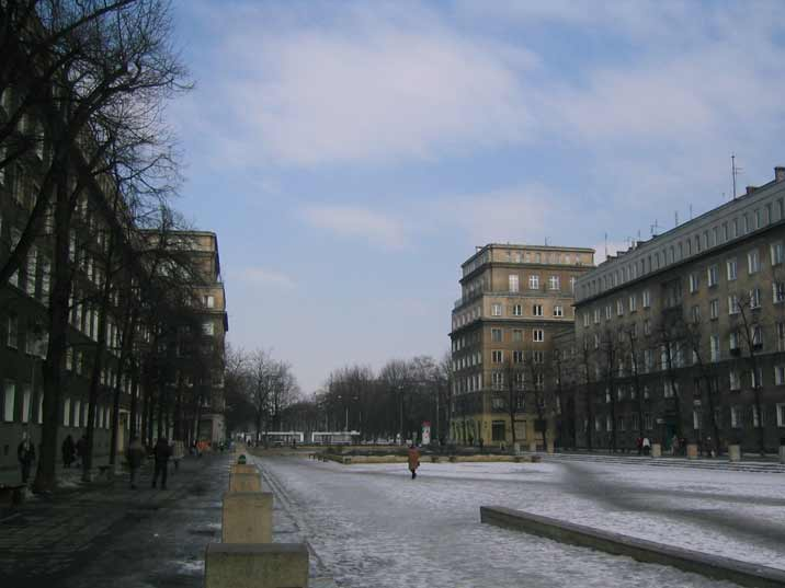 Plac Centralny (Central Square) is the monumental heart of Nowa Huta where Lenin used to stand before 1989