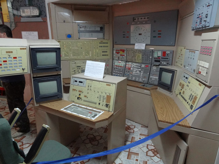 Recreated command post in the museum, most guest will se the real thing when descending in the ULCC